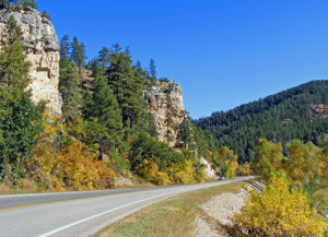 Spearfish Canyon Scenic Byway in SD