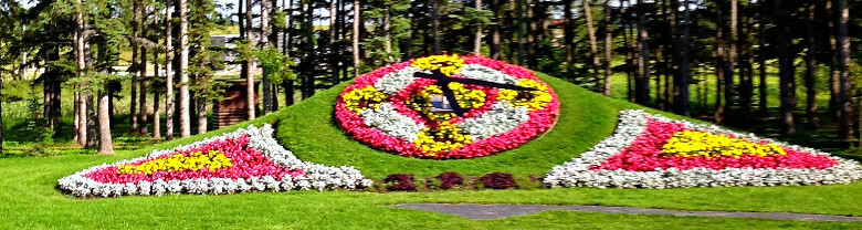 Floral Clock at International Peace Garden