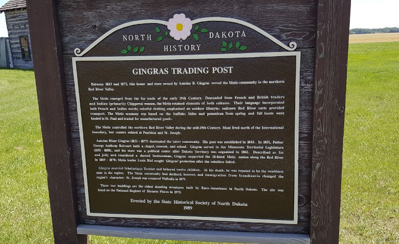 Walhalla Trading Post Gingras Sign