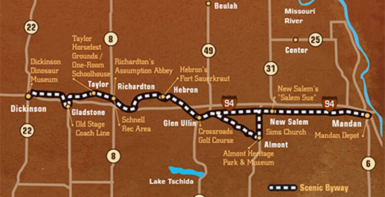 Map of Old Ten Scenic Byway