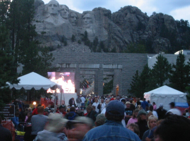 4th of July Crowd at Mount Rushmore
