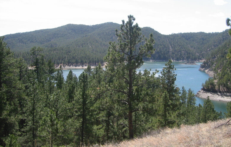 Black Hills Trail View of Sheridan Lake