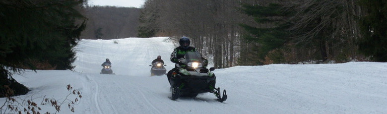 Snowmobiling in the Black Hills