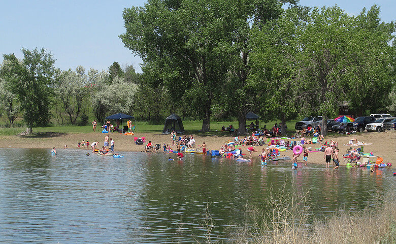 Swimming Beach at Lake Sakakawea ND