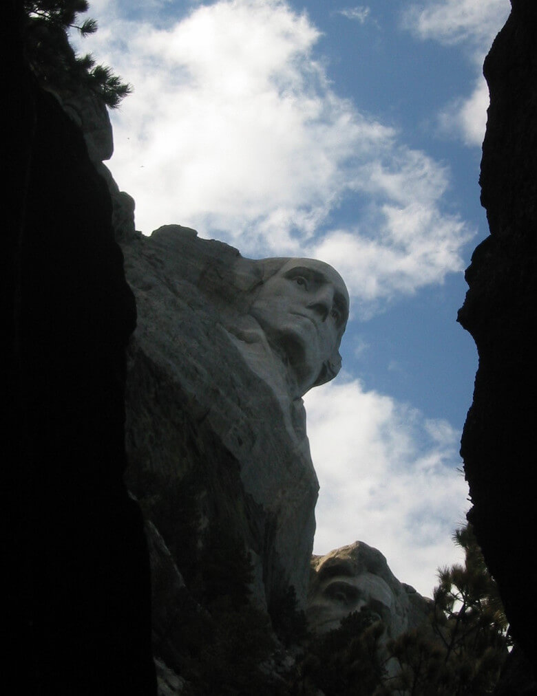 View Mount Rushmore from the Back