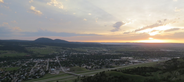 View Sunset From Lookout Mountain Spearfish